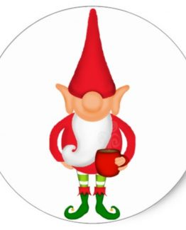 Christmas Elf Sticker Single