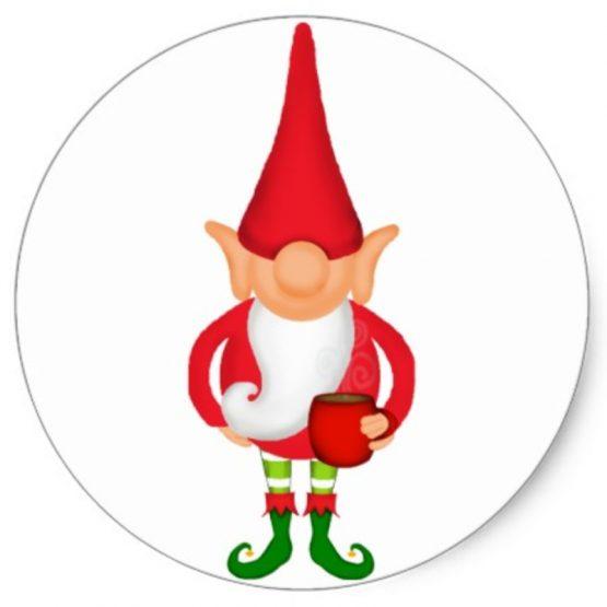 Christmas Elf Sticker Single
