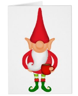 Christmas Elf funny card greeting