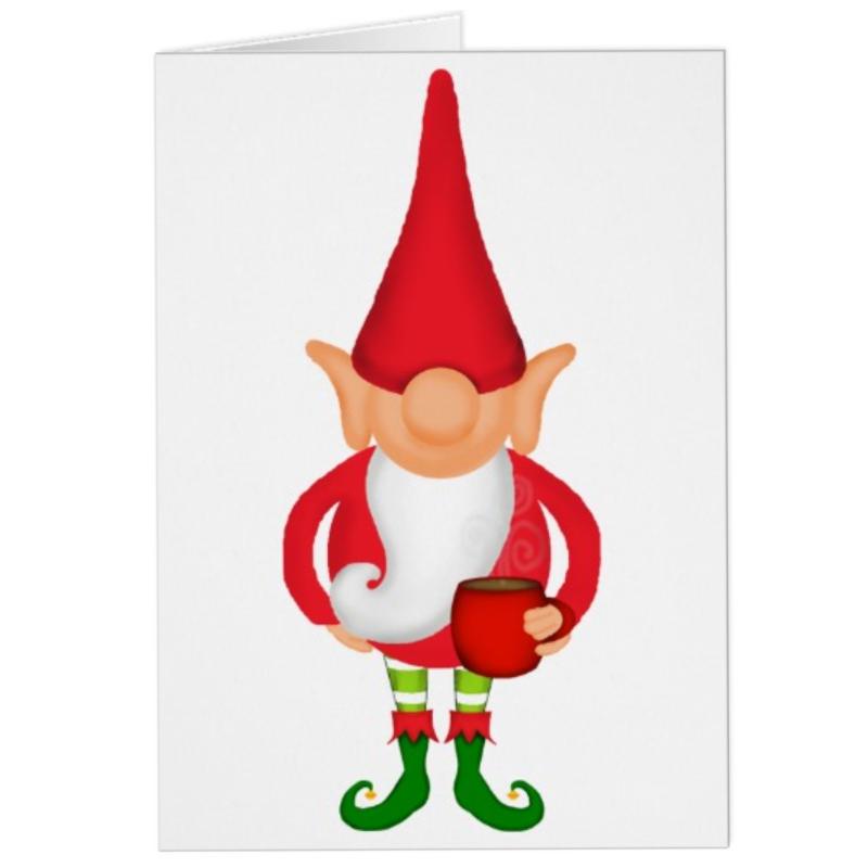 Funny Christmas Elf Greeting Card