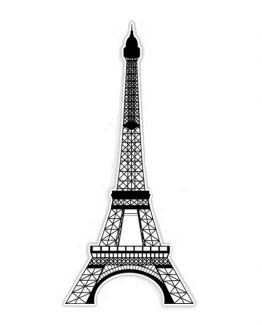 Eiffel Tower black paris sticker