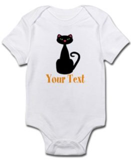First halloween baby outfit shirt boy girl cute funny cat