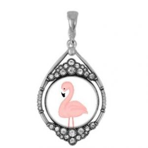 Pink Flamingo Jewelry Beach Necklace Gifts
