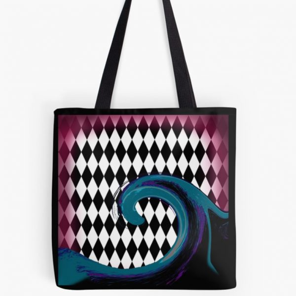 Ocean Wave Beach Abstract Surfer Girl Tote Bag Purse