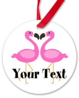 Pink flamingo christmas ornament flamingos gift