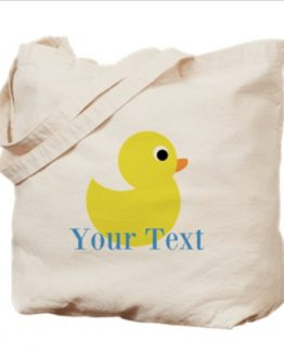 Rubber Ducky Duck Tote Bag Custom Name Monogram Baby Diaper Bag Beach