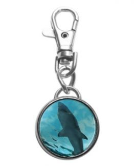 Shark Key Chain key chain beach ocean nautical