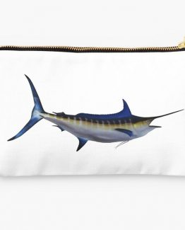 fishing makeup bag girl girly apparel gifts blue marlin