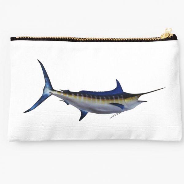 fishing makeup bag girl girly apparel gifts blue marlin