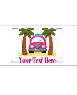 folly beach surfer girl surf surfing license plate car decor