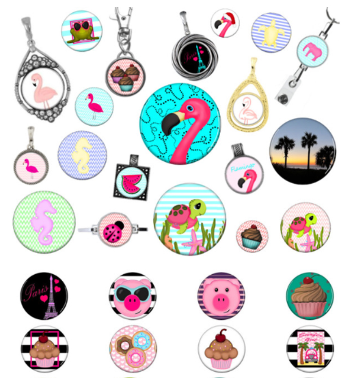 magnetic beach jewelry flamingo pink