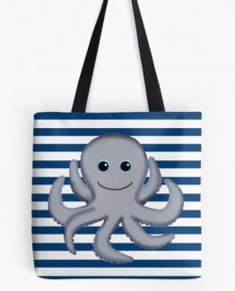 octopus nautical diaper bag tote purse beach