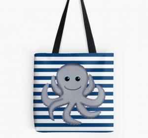 octopus nautical diaper bag tote purse beach