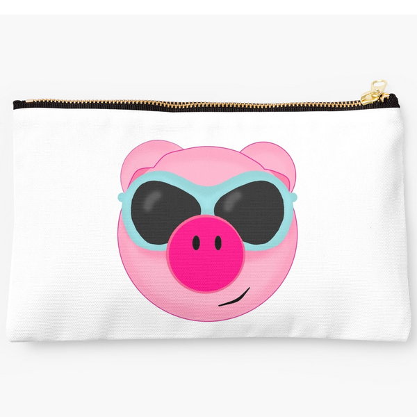 pink beach pig in sunglasses pigs piglet gifts
