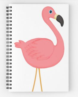 pink flamingo spiral notebook journal tropical beach vacation