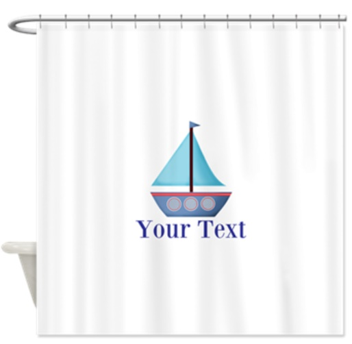 Sailboat Nautical Custom Bathroom Shower Curtain