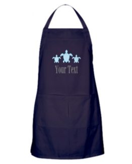 sea turtle monogram apron custom name gift ocean beach charleston SC