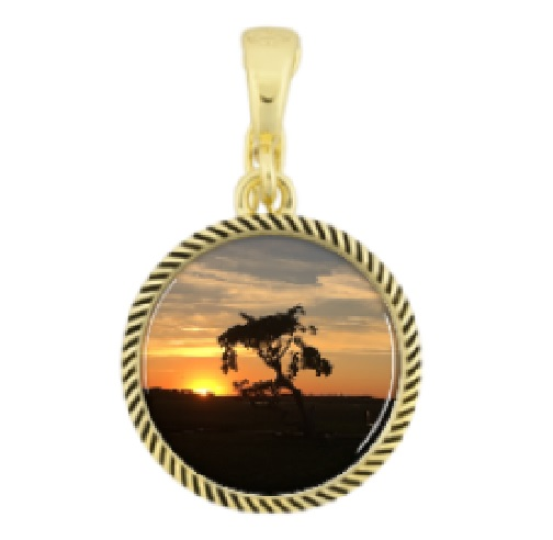 sunset folly beach marsh sc necklace charm coastal jewelry