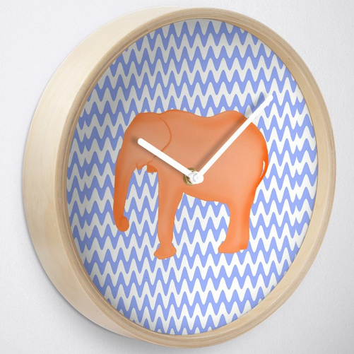 Cute baby elephant clock wall decor nursery charleston sc