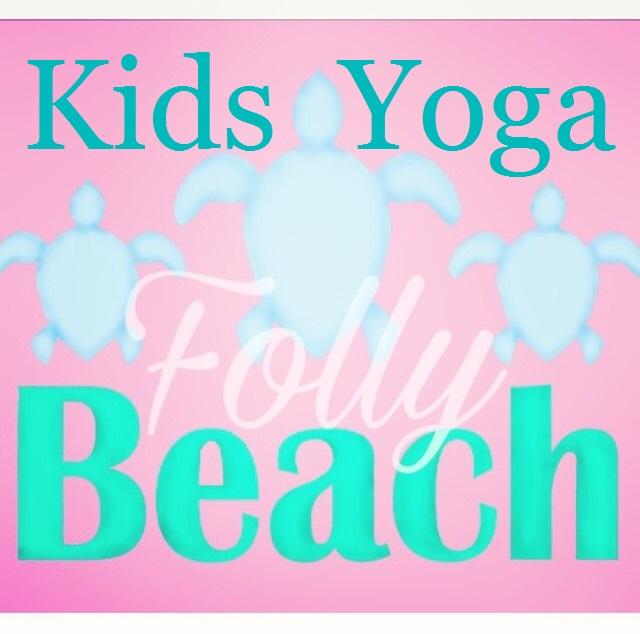 Folly Beach Island Yoga Kids Class Classes Sea Turtles Pink