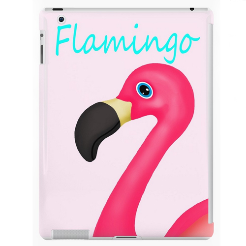 pink flamingo ipad case pink teal tropical