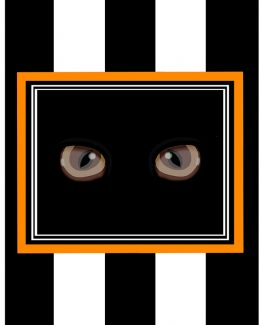 Cat eyes Orange Black Background 8 X 10 low res
