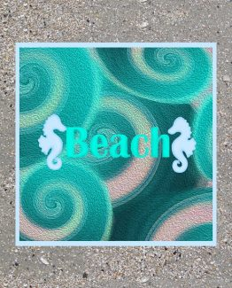 Teal Beach Abstract Wall Art Sand
