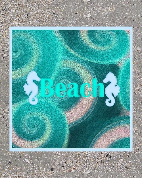 Teal Beach Abstract Wall Art Sand