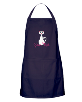 cat lady kitchen decor cats gift apron custom