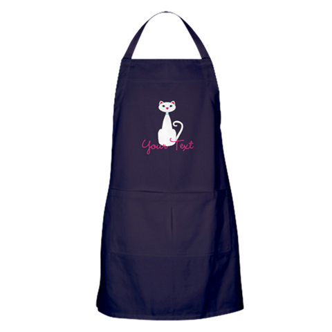 cat lady kitchen decor cats gift apron custom