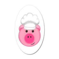 chef pig kitchen decor wall decal vinyl