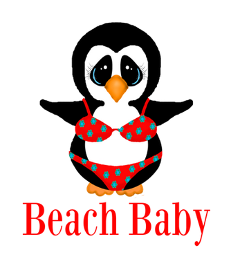 penguin in bikini Beach baby custom