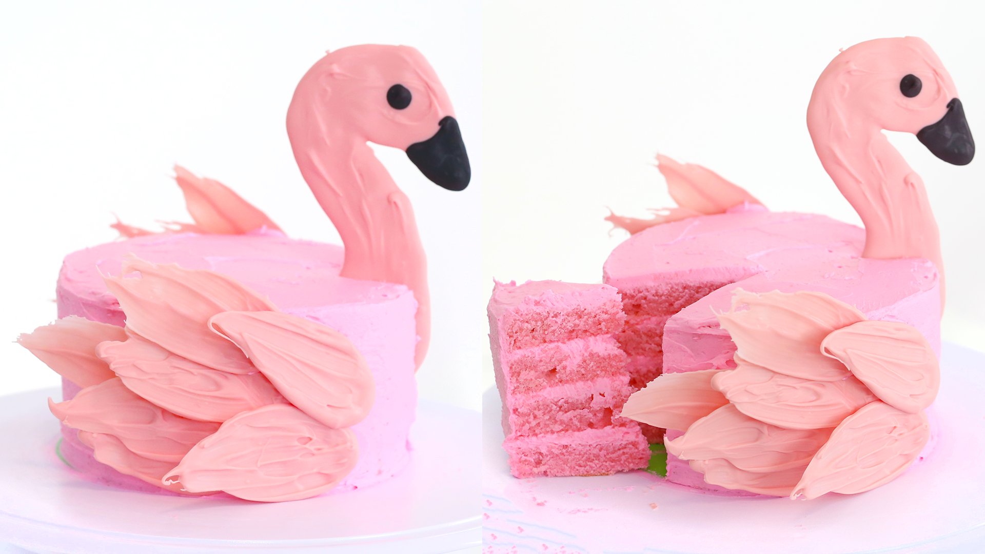 pink flamingo cake party idea