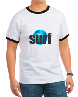 Surf Surfing tshirt shirt short sleeve drop ocean waves surfer