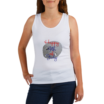 beach 4th of july womens shirt tank top sand dollar