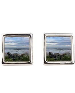 folly beach jewelry cuff links surfer washout