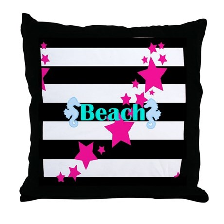 pink beach teal pillow modern home decor bedding