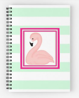 pink flamingo stationary notebook notepad art flamingos